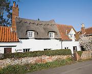 Pretty country cottages in Marlesford village, Suffolk, England