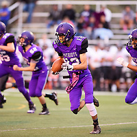 Lance Evans with the kick return for the Patriots against the Aztec Tigers, Friday August, 24, 2018 at Angelo DiPaolo Stadium in Gallup.