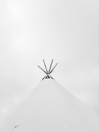 Snow on a tipi, Greenland