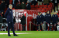 West Ham United manager David Moyes oversees the warm up<br /> <br /> Photographer Rich Linley/CameraSport<br /> <br /> The Premier League - Sheffield United v West Ham United - Friday 10th January 2020 - Bramall Lane - Sheffield <br /> <br /> World Copyright © 2020 CameraSport. All rights reserved. 43 Linden Ave. Countesthorpe. Leicester. England. LE8 5PG - Tel: +44 (0) 116 277 4147 - admin@camerasport.com - www.camerasport.com