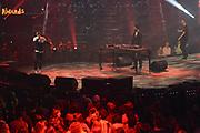 De 3FM Awards 2014 in de Gashouder, Amsterdam.<br /> <br /> Op de foto:  The Opposites winnen de award voor beste album (Slapeloze Nachten)