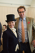 SARAH JANE DENNY AND CHRISTOPHER DENNY, Side-Saddle Dash, Southern Spinal Injuries Trust charity Day. Wincanotn. 25 October 2015.