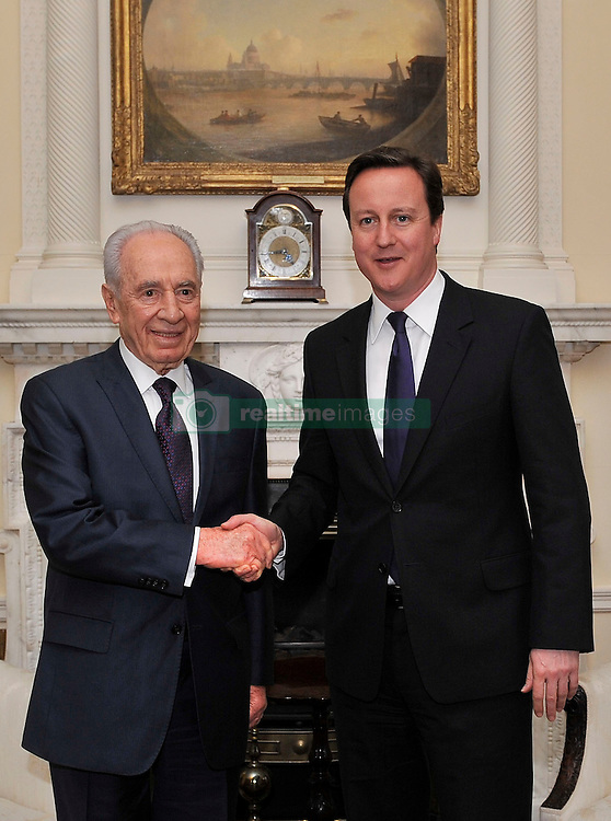 File photo dated 18/11/08 of David Cameron meeting former Israeli President Shimon Peres, who has died aged 93.