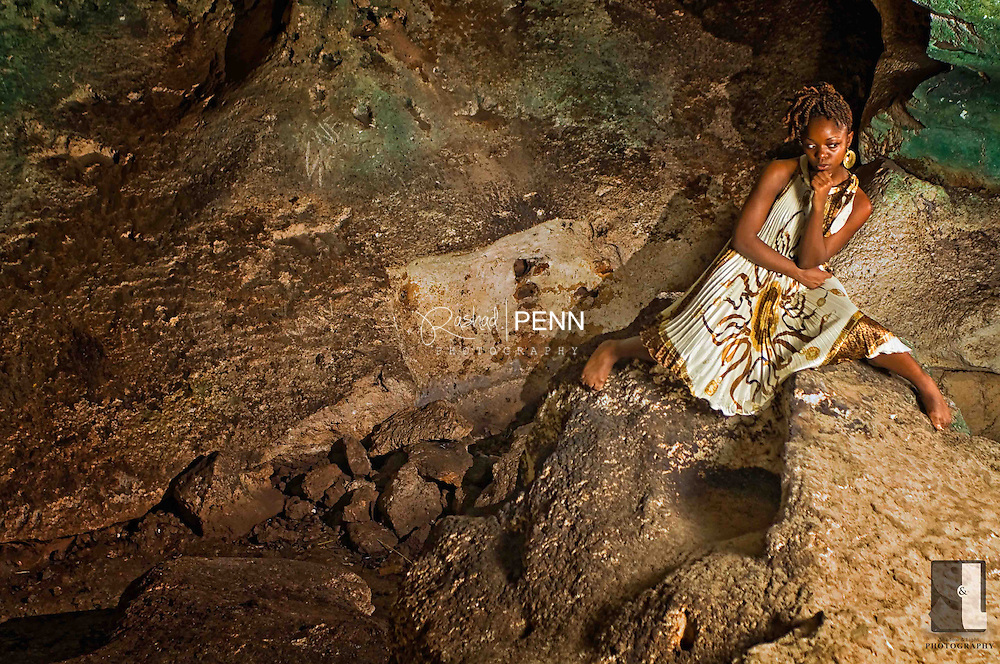 Sharlene at the caves and the caves beach in west nassau. Photo shoot