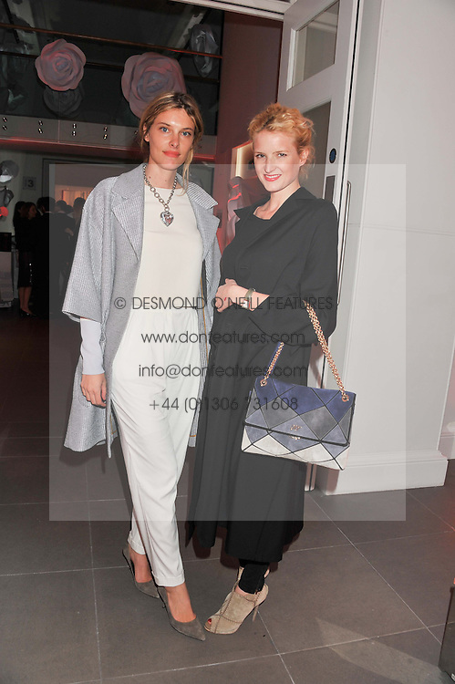 Left to right, SARA BRAJOVIC and FIONA SCARRY at a party hosted by Ines de la Frassange and Bruno Frisoni for Roger Vivier to launch the Roger Vivier book held at The Saatchi Gallery, London on 24th April 2013.