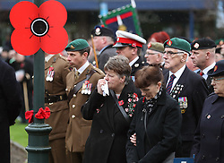 Veterans, members of the public and serving members of the armed forces attend a remembrance service in Fort William on the 100th anniversary of the signing of the Armistice which marked the end of the First World War.