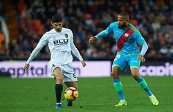 November 24, 2018 - Valencia, Valencia, Spain - Gonzalo Guedes of Valencia CF and Bebe of Rayo Vallecano during the La Liga match between Valencia CF and Rayo Vallecano at Mestalla Stadium on November 24, 2018 in Valencia, Spain (Credit Image: © AFP7 via ZUMA Wire)