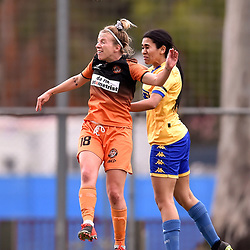 BRISBANE, AUSTRALIA - OCTOBER 31:  during the NPL Queensland Senior Womens Round 16 match between Eastern Suburbs FC and Capalaba FC at Heath Park on October 31, 2020 in Brisbane, Australia. (Photo by Patrick Kearney)
