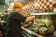 Jason Marcus, chef and co-owner of Xixa, in the kitchen.