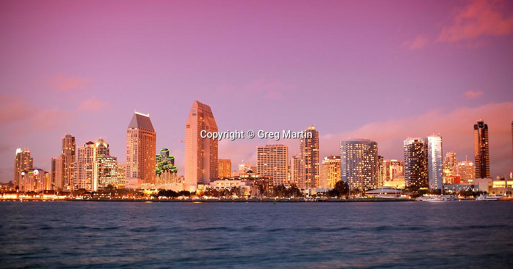 San Diego from Coronado Island at Centennial Park, California