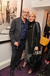 PAUL McKENNA and MICHELLE COLLINS at a private view of photographs 'Terry O'Neill-The Best Of' held at The Little Black Gallery, 13A Park Walk, London on 16th January 2014.
