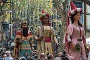"The city Giants Los ""Gigantes"", Barcelona, during the Festival of La Mercè, Barrio Gotico"
