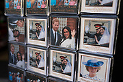 Prince Harry and Meghan, alongside Princess Diana souvenirs in a shop on 21st January 2020 in London, England, United Kingdom. Earlier it had been reported that after recent controversy and discussion amongst members of the royal family, that Prince Harry had flown out of the UK to be with his wife Meghan and their family. Prince Harry and Markle announced recently that they will step back from their roles as senior royals to share their time between the UK and Canada, and to continue both their charity work and continue to a degree their royal responsibilities.