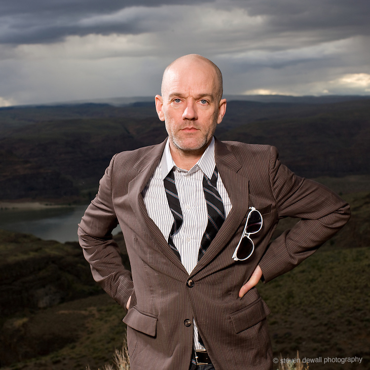 Michael Stipe of REM photographed backstage at the Gorge during Sasquatch! Music Festival.