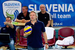 Veselin Vukovic, head coach of Slovenia during volleyball match between National Teams of Slovenia and Belgium of 2011 CEV Volleyball European League Men - Pool A, on July 9, 2011, in  Arena Ljudski vrt Lukna, Maribor, Slovenia. Slovenia defeated Belgium 3-1. (Photo by Vid Ponikvar / Sportida)
