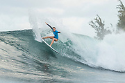 Nikki Van Dijk of Australia will surf in Round Two of the 2017 Maui Women's Pro after placing third in Heat 1 of Round One at Honolua Bay, Maui, Hawaii, USA.