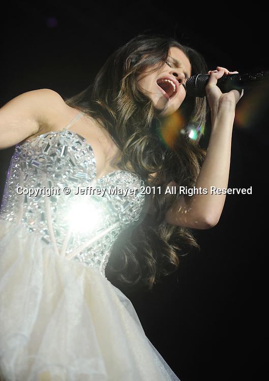LOS ANGELES, CA - MAY 14: Selena Gomez performs at KIIS FM's 2011 Wango Tango Concert at Staples Center on May 14, 2011 in Los Angeles, California.