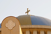 The dome of The Resurrection of Christ Orthodox Cathedral of Tirana. Triana, Albania. 02Sep15