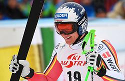 14.02.2020, Zwölferkogel, Saalbach Hinterglemm, AUT, FIS Weltcup Ski Alpin, Super G, Herren, im Bild Thomas Dressen (GER) dritter Platz // Thomas Dressen of Germany third Place reacts after his run for the men's SuperG of FIS Ski Alpine World Cup at the Zwölferkogel in Saalbach Hinterglemm, Austria on 2020/02/14. EXPA Pictures © 2020, PhotoCredit: EXPA/ Erich Spiess