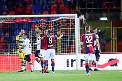 """Foto LaPresse/Filippo Rubin<br /> 13/05/2019 Bologna (Italia)<br /> Sport Calcio<br /> Bologna - Parmai - Campionato di calcio Serie A 2018/2019 - Stadio """"Renato Dall'Ara""""<br /> Nella foto: AUTOGOAL PARMA FRANCISCO SIERRALTA (PARMA)<br /> <br /> Photo LaPresse/Filippo Rubin<br /> May 13, 2019 Ferrara (Italy)<br /> Sport Soccer<br /> Bologna vs Parma - Italian Football Championship League A 2018/2019 - """"Dall'Ara"""" Stadium <br /> In the pic: AUTOGOAL PARMA FRANCISCO SIERRALTA (PARMA)"""