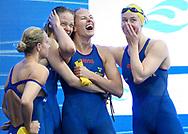SWE SWEDEN<br /> ROSVALL Hanna<br /> HANSSON Sophie<br /> HANSSON Louise<br /> COLEMAN Michelle<br /> 4 x 100 m Medley Women Preliminary<br /> Swimming<br /> Budapest  - Hungary  23/5/2021<br /> Duna Arena<br /> XXXV LEN European Aquatic Championships<br /> Photo Giorgio Perottino / Deepbluemedia / Insidefoto