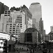 St. Nicholas Greek Orthodox Church, designed by architect Santiago Calatrava, under construction in lower Manhattan at the World Trade Center Memorial site