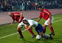 Fotball<br /> Kvalifisering til EM 2004<br /> 11.10.2003<br /> Bosnia v Danmark 1-1<br /> Norway Only<br /> Foto: Digitalsport<br /> <br /> Thomas Gravesen og Niclas Jensen