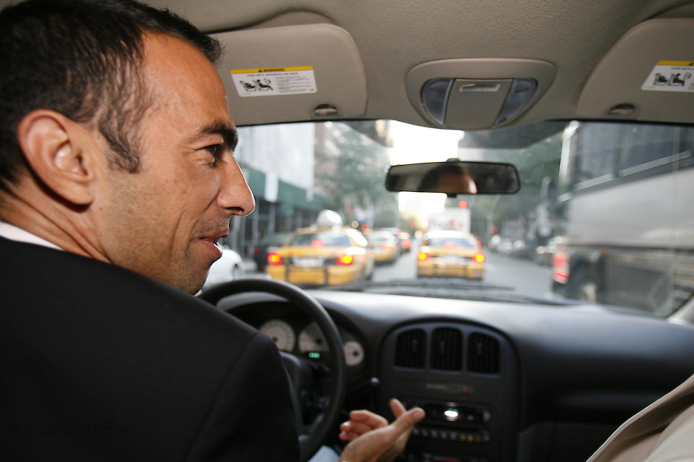 Saturday October 14th 2006. New York, New York. United States..Red Bulls French soccer player Youri Djorkaeff drives to the Giants Stadium to play a game against Kansas City. This game could be his last one as a professional player.