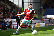 Michael Keane of Burnley in action. Skybet football league championship match, Burnley  v Birmingham City at Turf Moor in Burnley, Lancs on Saturday 15th August 2015.<br /> pic by Chris Stading, Andrew Orchard sports photography.