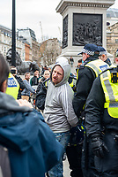 arrests made as thousands of Anti-Lockdown protesters march through london London during the coronavirus pandemic 21st march 2021 photo by Mark Anton Smith