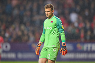 Charlton Athletic goalkeeper Dillon Phillips (1) during the EFL Sky Bet League 1 second leg Play-Off match between Charlton Athletic and Doncaster Rovers at The Valley, London, England on 17 May 2019.
