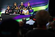 June 5-7, 2015: Canadian Grand Prix: Lewis Hamilton (GBR), Mercedes, Felipe Massa (BRA), Williams Martini Racing , Sergio Perez (MEX), Force India, Max Verstappen, Scuderia Toro Rosso , Pastor Maldonado, (VEN), Lotus, Daniil Kvyat, (RUS), Red Bull-Renault