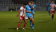 Cheltenham Town's Sam Smith during the EFL Sky Bet League 2 match between Stevenage and Cheltenham Town at the Lamex Stadium, Stevenage, England on 20 April 2021.