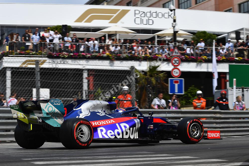 Alexander Albon (Toro Rosso-Honda) in front of Paddock Club during qualifying before the 2019 Monaco Grand Prix. Photo: Grand Prix Photo
