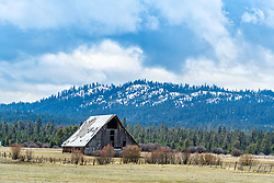 Old barn outside to Cascade Idaho in the beautiful Payette Valley
