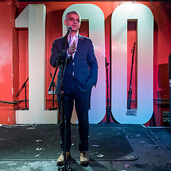 © Licensed to London News Pictures. 04/11/2016. London, UK.  The Mayor of London, Sadiq Khan, announces that writer, DJ, performer and campaigner Amy Lamé has been appointed as London's first Night Czar.  The announcement was made at the 100 Club, an iconic music venue in Soho.  The role will champion London's nightlife both in the UK and internationally and to create a vision for London as 24-hour city.   Photo credit : Stephen Chung/LNP