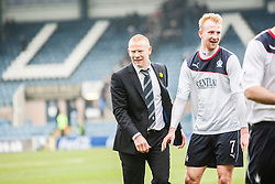 Falkirk's manager Gary Holt at the end.<br /> Dundee 0 v 1 Falkirk, Scottish Championship game played today at Dundee's Dens Park.<br /> © Michael Schofield.