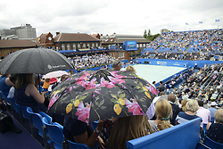 June 24, 2017 - London, England, United Kingdom - View of the Centre Court while gets covered before the semi final of AEGON Championships at Queen's Club, London, on June 24, 2017. (Credit Image: © Alberto Pezzali/NurPhoto via ZUMA Press)