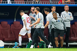 July 11, 2018 - Moscow, Russia - 180711 Kieran Trippier of England leaves the pitch during the FIFA World Cup semi final match between Croatia and England on July 11, 2018 in Moscow..Photo: Petter Arvidson / BILDBYRÃ…N / kod PA / 92085 (Credit Image: © Petter Arvidson/Bildbyran via ZUMA Press)