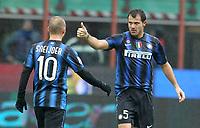 Fotball<br /> Italia<br /> Foto: Insidefoto/Digitalsport<br /> NORWAY ONLY<br /> <br /> dejan stankovic celebrated after scoring second goal<br /> <br /> 28.11.2010<br /> Serie A 2010/2011<br /> Inter v Parma
