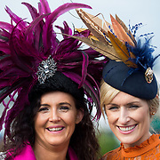 09.10.2016           <br /> Attend the Keanes Jewellers Best dressed competition at Limerick Racecourse were, Liz O'Sullivan, Douglas Co. Cork and Annmarie Phelan, Kilkenny. Picture: Alan Place