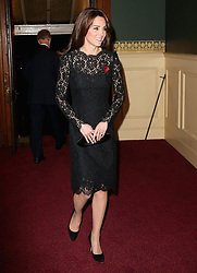 The Duchess of Cambridge arrives at the annual Royal British Legion Festival of Remembrance at the Royal Albert Hall in London, which commemorates and honours all those who have lost their lives in conflicts.