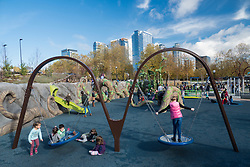 United States, Washington, Bellevue, Bellevue Downtown Park, Imagination Playground