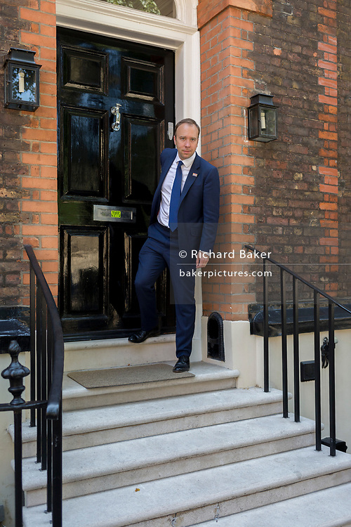 On the day that the Conservative Party elects Boris Johnson its leader and the country's Prime Minister, Health Secretary Matt Hancock leaves the property in Great College Street that Johnson's campaign team have been using (courtesy of Sky executive Andrew Griffith), on 23rd July 2019, in Westminster, London, England.
