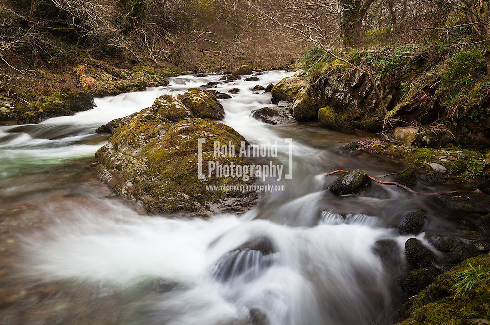The river flowing in the National Trust's Watersmeet