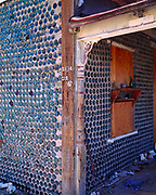The Bottle House built in 1906 by miner Tom Kelly using some 50,000 beer and liquor bottles, ghost town of Ryholite, Nevada.