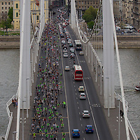 22nd Apri marks Earth Day when every year thousands of people participate the Critical Mass event to ride together demonstrating the importance and popularity of bicycle as a mean of everyday city transportation in Budapest, Hungary on April 22, 2012. ATTILA VOLGYI
