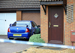 © licensed to London News Pictures. Wallingford, UK.  06/09/11. A blue car and keys left in a door at an address which has been cordoned. Thames Valley Police have launched a murder investigation today, in Walnut Tree, Milton Keynes, after a man was found with fatal injuries last night (5/9/11). A 33 year old man was taken to Milton Keynes General Hospital but died from his injuries a short time later. A second man aged 32 has been arrested. Mandatory Credit Stephen Simpson/LNP
