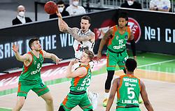 Josh Adams of Virtus during basketball match between KK Cedevita Olimpija (SLO) and Virtus Segafredo Bologna (ITA) in Top 16 Round 5 of 7DAYS Eurocup 2020/21, on March 2, 2021 in Arena Stozice, Ljubljana, Slovenia. Photo by Vid Ponikvar / Sportida
