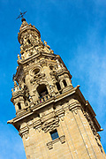 La Torre tower by the cathedral in Santo Domingo de La Calzada on the Way of St James pilgrim route Camino de Santiago in Castilla y Leon, Spain